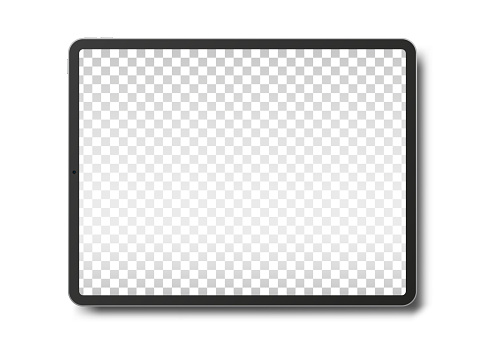 Tablet pc computer with blank screen.