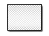 Tablet pc computer with blank screen isolated on white background. Vector illustration. EPS10.