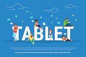 Tablet pc concept illustration