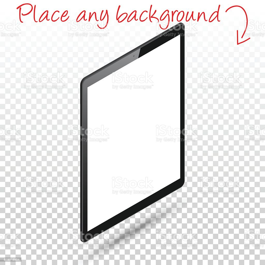 Tablet Pc Isolated On Blank Background Digital Tablet