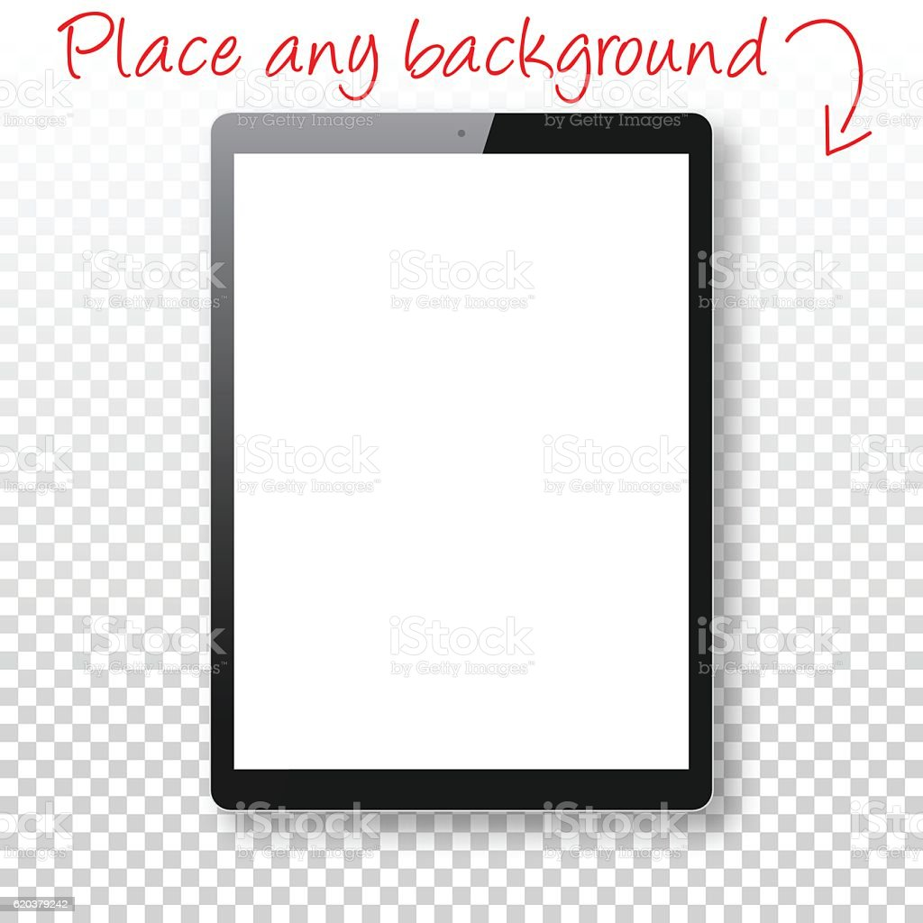 Tablet Pc Isolated On Blank Background