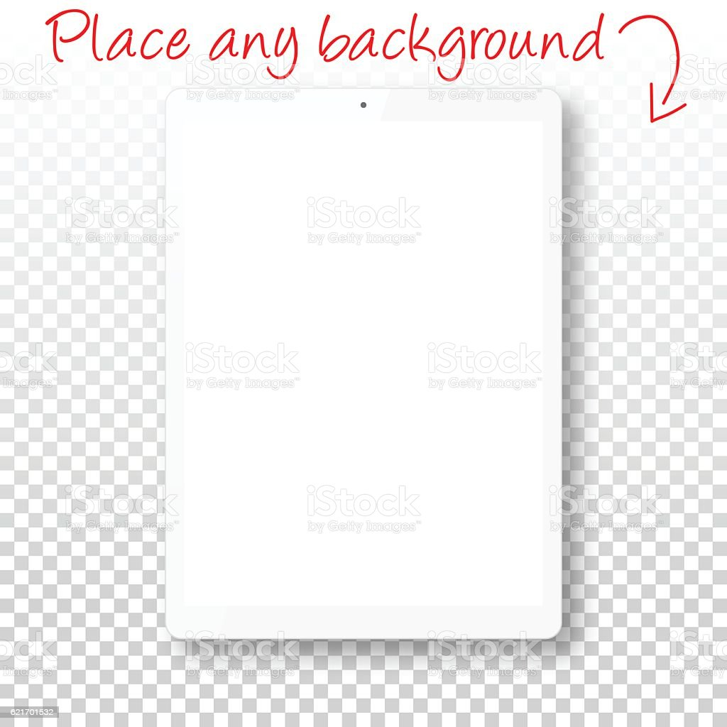 tablet pc isolated on blank background digital tablet template stock