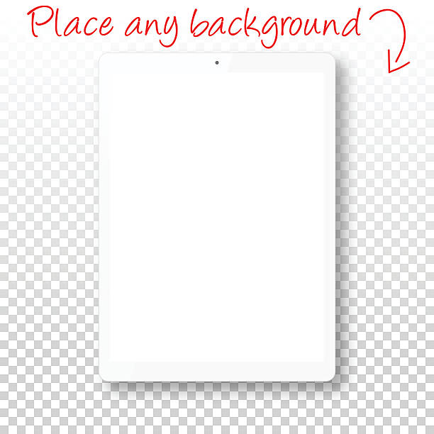 Tablet Pc isolated on Blank Background - Digital Tablet Template vector art illustration