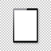 Tablet Pc isolated on blank background - Tablet Pc Template