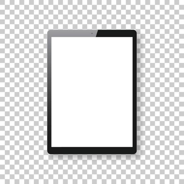 Tablet Pc isolé sur fond blanc - modèle de Tablet Pc - Illustration vectorielle