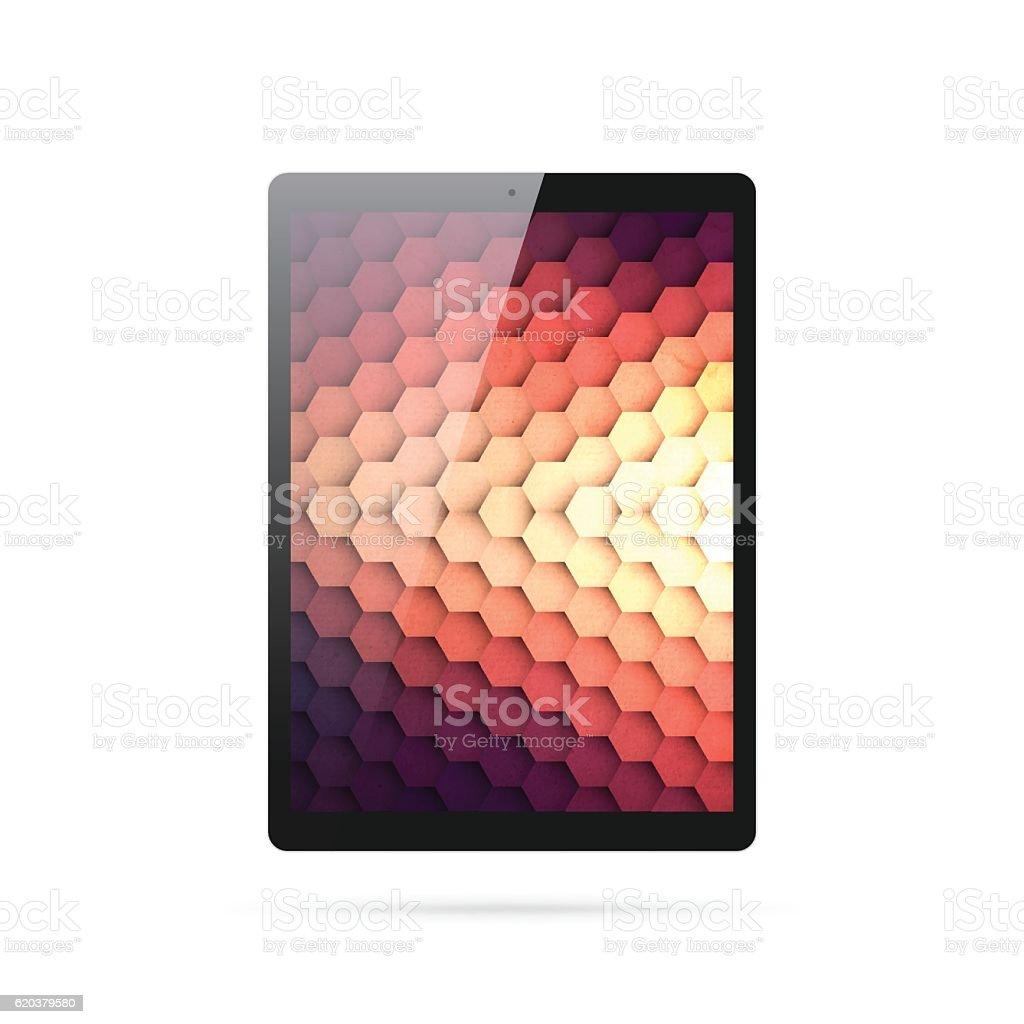 Tablet Pc isolated on White Background - Digital Tablet Template tablet pc isolated on white background digital tablet template - stockowe grafiki wektorowe i więcej obrazów abstrakcja royalty-free
