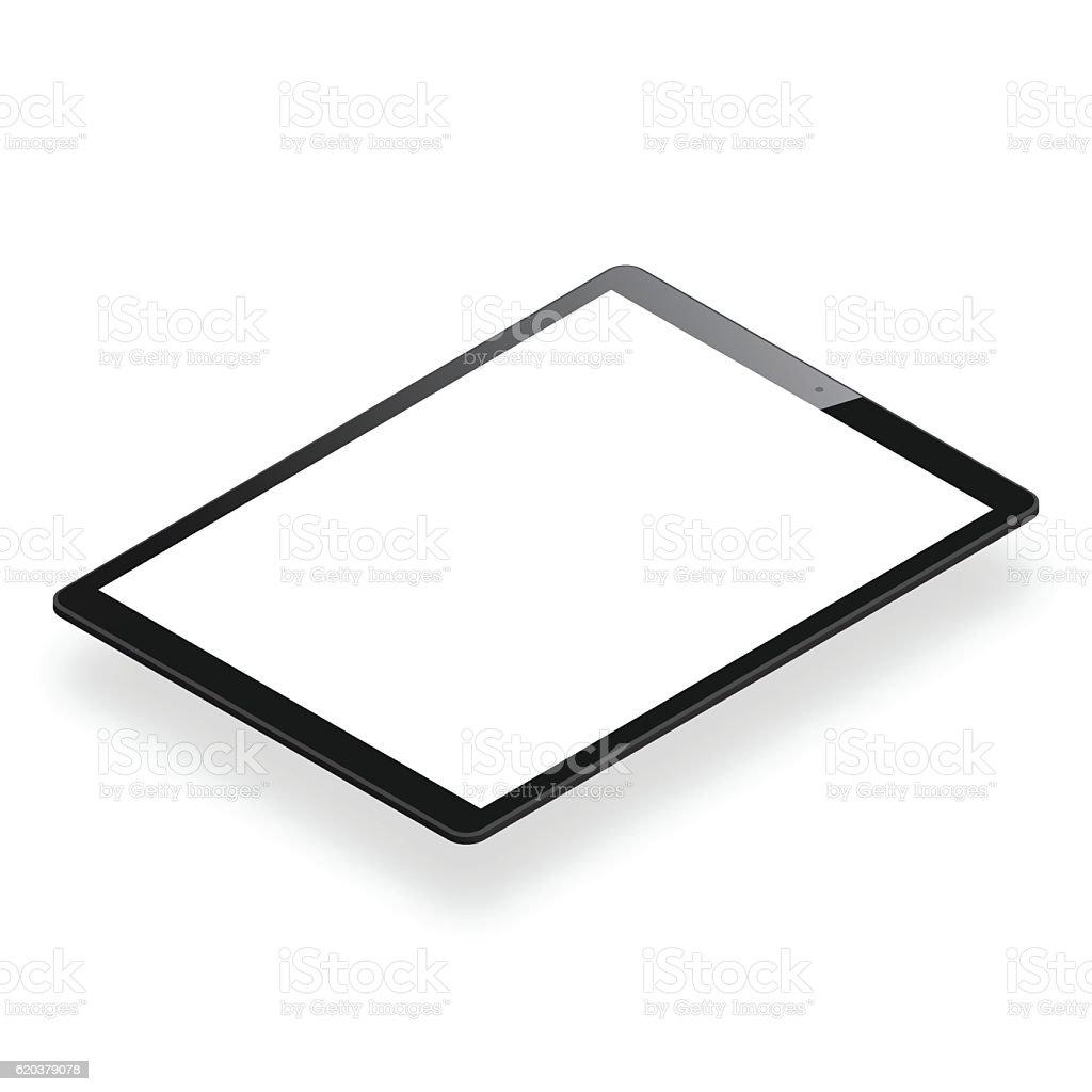 Tablet Pc isolated on White Background - Isometric Tablet Template tablet pc isolated on white background isometric tablet template - arte vetorial de stock e mais imagens de agenda eletrónica royalty-free