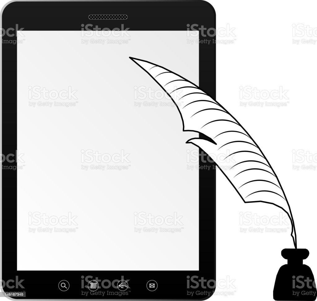 Tablet PC laptop royalty-free tablet pc laptop stock vector art & more images of black color
