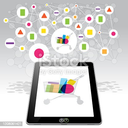 istock Tablet PC online Shopping 1208061421