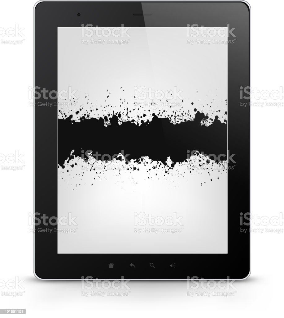 Tablet PC. Vector EPS 10. royalty-free stock vector art