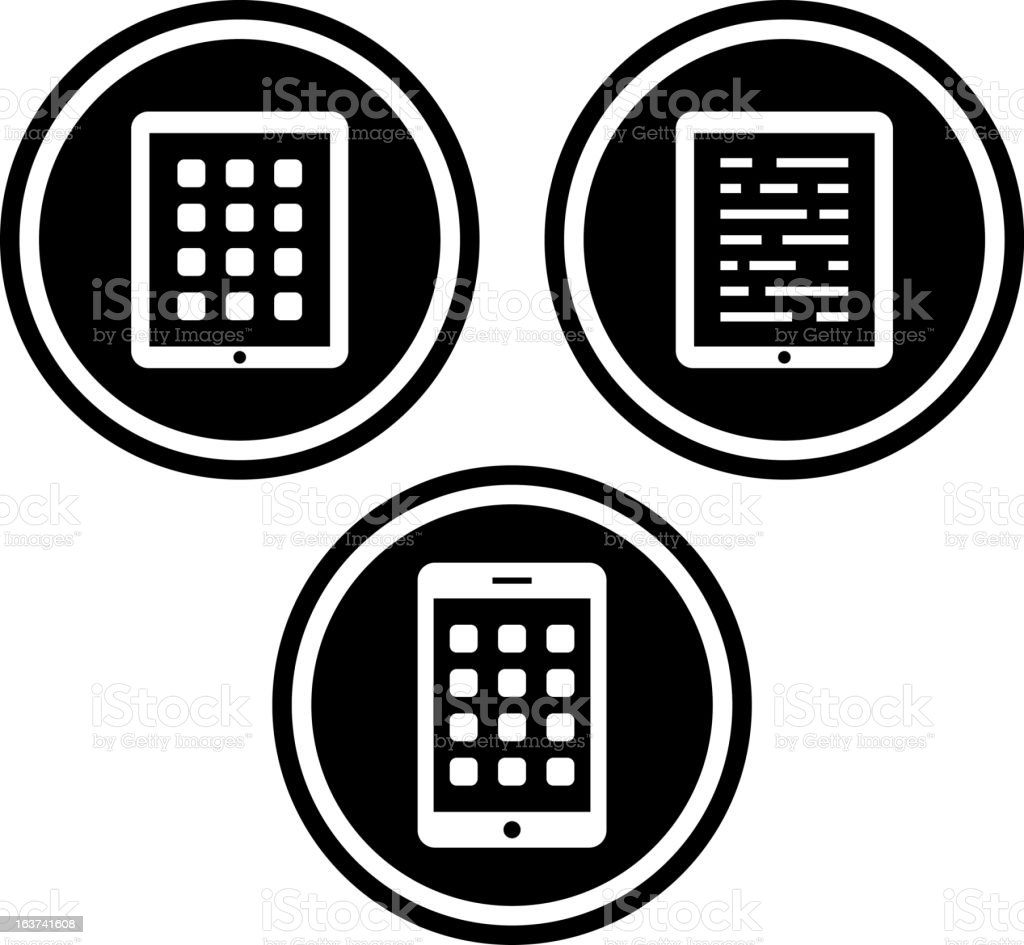Tablet PC - Vector icon royalty-free stock vector art