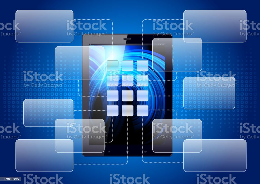 Tablet pc royalty-free tablet pc stock vector art & more images of abstract