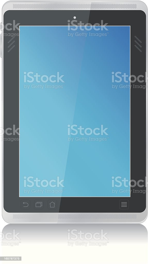 Tablet PC vertical royalty-free stock vector art
