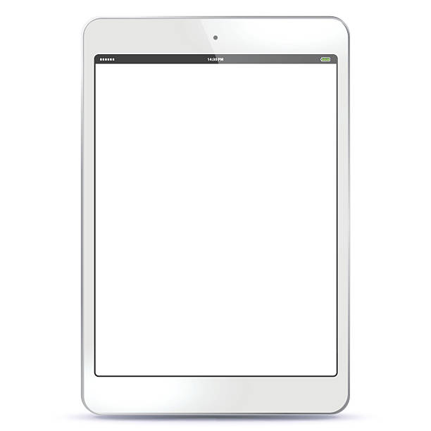 tablet pc-weiß - tablet pc stock-grafiken, -clipart, -cartoons und -symbole