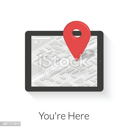 610119450 istock photo Tablet pc with gps navigation 487117572