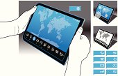 Tablet PC - World Map Interface