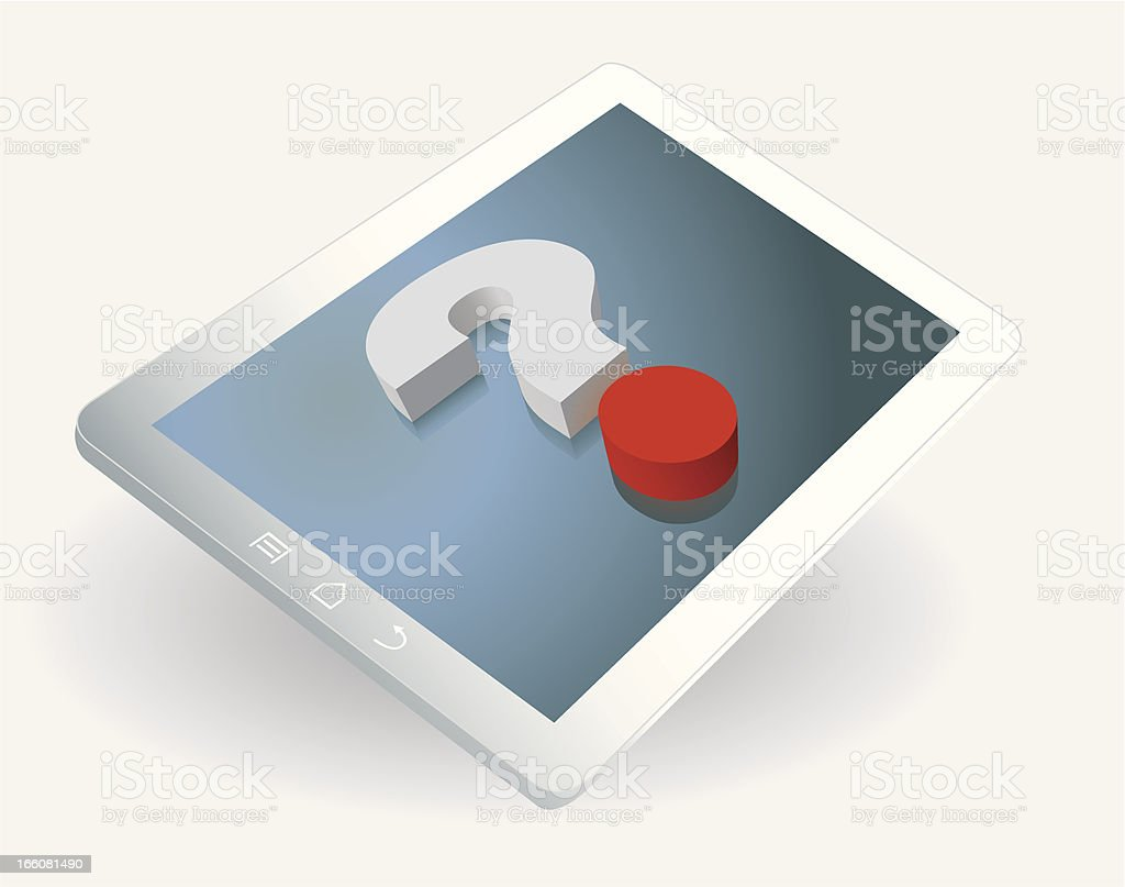 Tablet Question royalty-free stock vector art