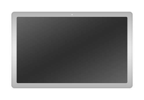 Tablet, smartphone, electronic, computer, device screen, cordless, portability vector stock.