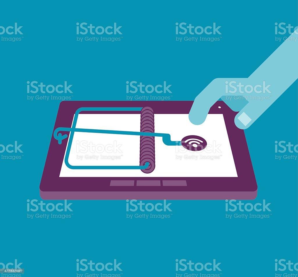 Tablet Trap vector art illustration