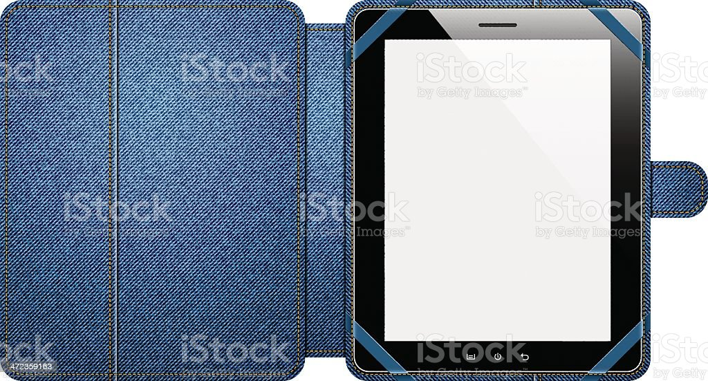 Tablet with cover royalty-free stock vector art
