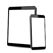 istock Tablet with phone mock up 1245120690