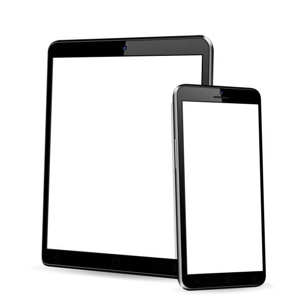 ilustrações, clipart, desenhos animados e ícones de tablet com telefone simulado - ebook
