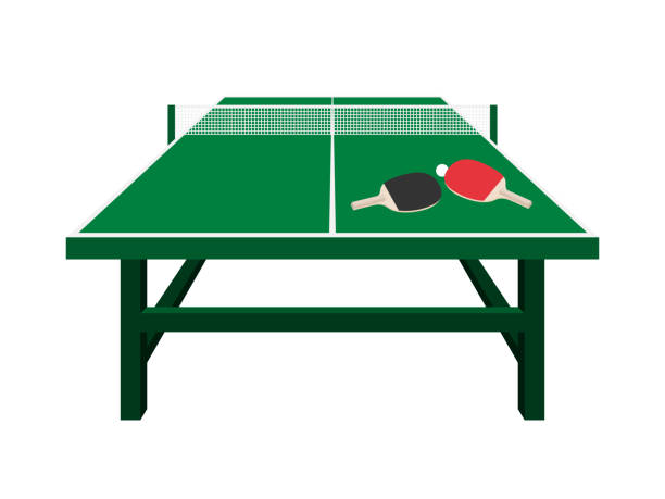 table‐tennis table table‐tennis table ping pong table stock illustrations
