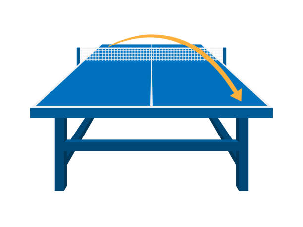 table‐tennis table‐tennis ping pong table stock illustrations