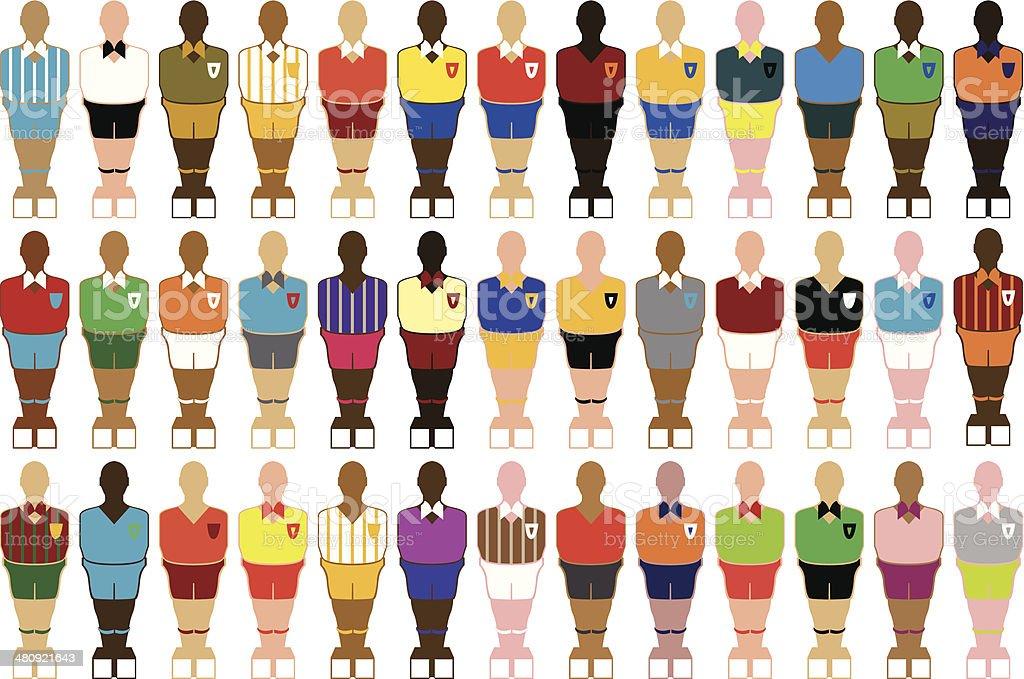 Footballeur de table - Illustration vectorielle