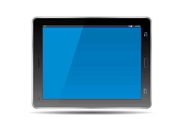 stockillustraties, clipart, cartoons en iconen met tablets and blue screen. vector illustration. - green screen