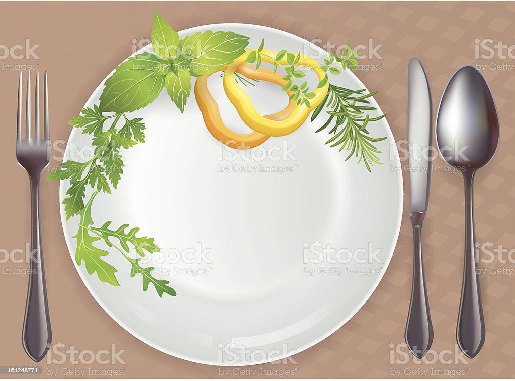 Tableware healthy food royalty-free stock vector art