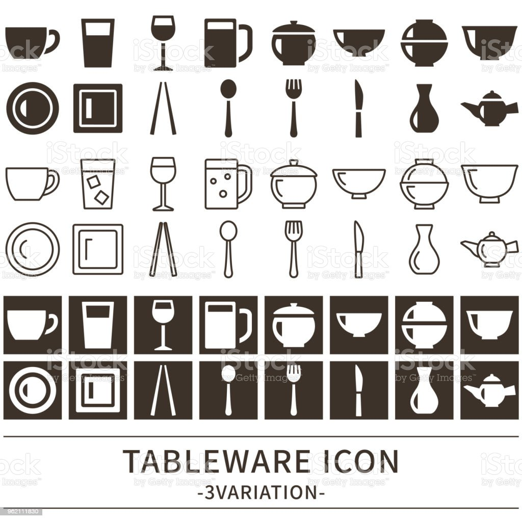 Tableware icon vector art illustration