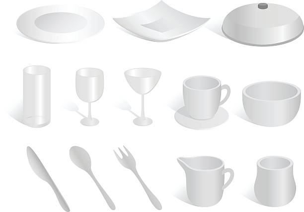 tableware - vectors stock pictures, royalty-free photos & images