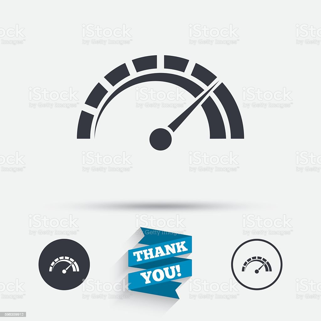Tachometer sign icon. Revolution-counter symbol. royalty-free tachometer sign icon revolutioncounter symbol stock vector art & more images of badge
