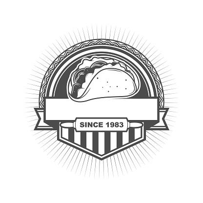 Taco Badge Logo Template Design