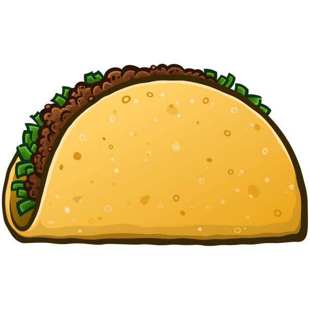 taco cartoon illustration - chimichanga stock-grafiken, -clipart, -cartoons und -symbole