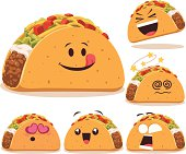 Taco Cartoon Set A