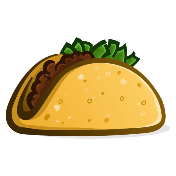 taco cartoon vector illustration - chimichanga stock-grafiken, -clipart, -cartoons und -symbole