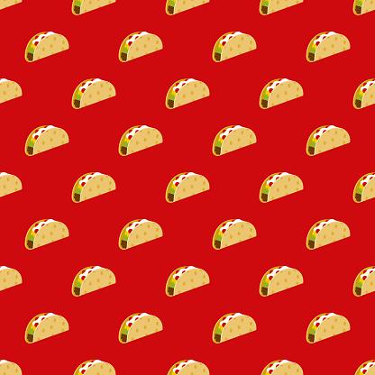 Taco Cinco de Mayo Seamless Pattern