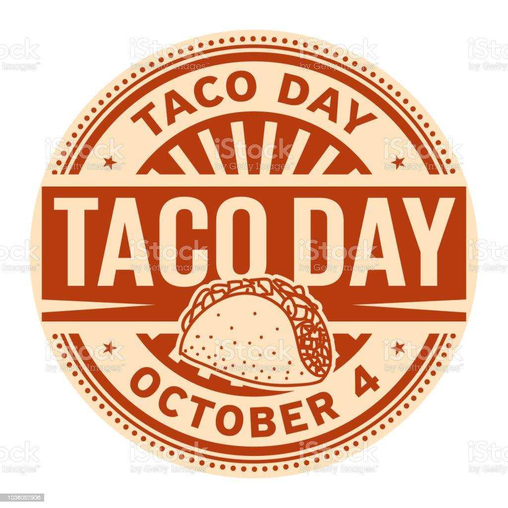 Taco Day, October 4 - arte vettoriale royalty-free di Anniversario