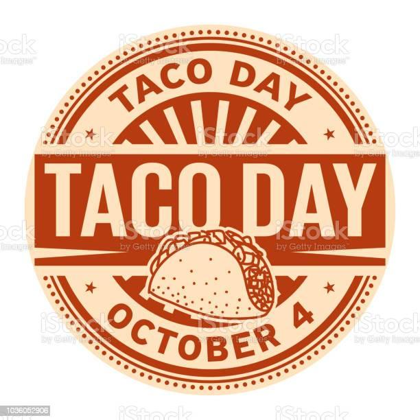 Taco Day October 4 - Immagini vettoriali stock e altre immagini di Anniversario