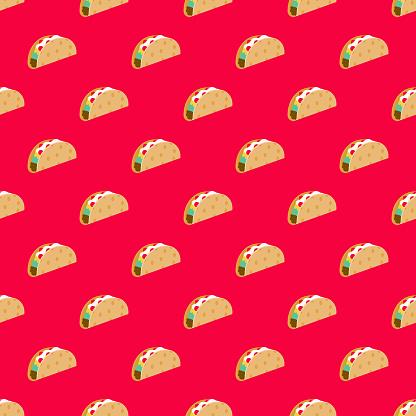 Taco Fast Food Seamless Pattern