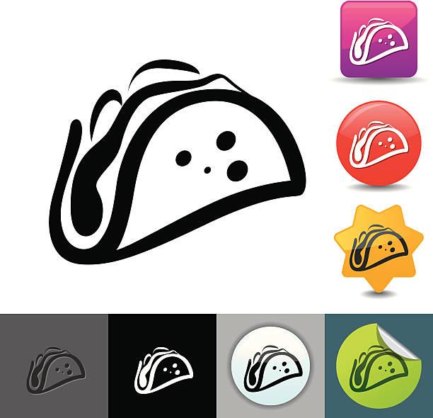 Taco icon | solicosi series vector art illustration