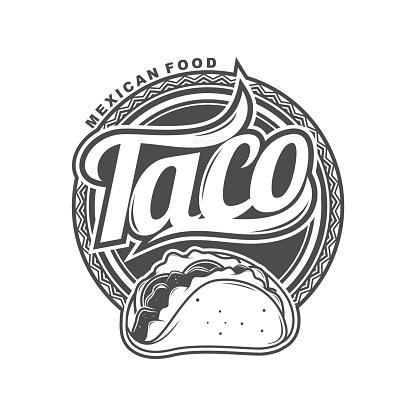 Taco Mexican Food Logo