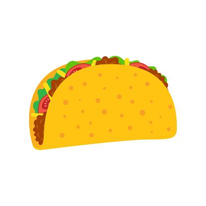 Taco mexican food.