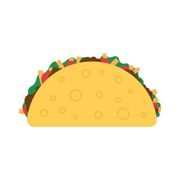 taco mexican food. - taco stock illustrations, clip art, cartoons, & icons