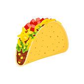 taco on white background