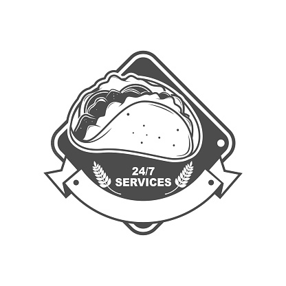 Taco Signage Logo Template Design