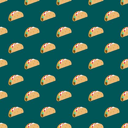 Taco Street Food Seamless Pattern