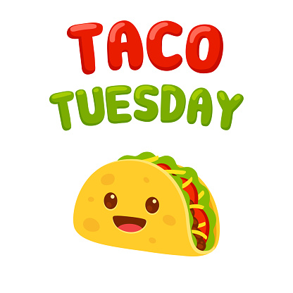 Taco Tuesday cartoon drawing